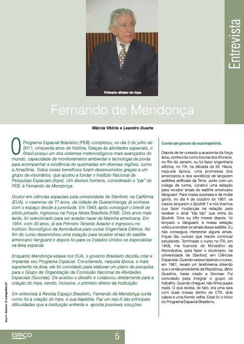 Entrevista 1 - Fernando de Mendonça